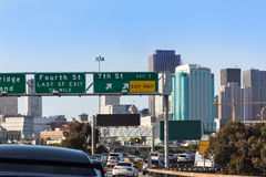 San Francisco city traffic in rush hour with downtown skyline Royalty Free Stock Image