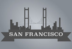 San Francisco City. Vector for your ideas Royalty Free Stock Photography