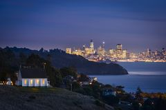 San Francisco City view with holiday lights Stock Photography
