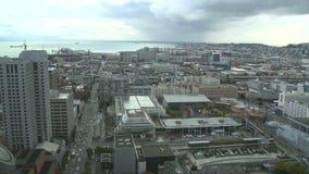 San Francisco City y lapso de tiempo de la bahía almacen de metraje de vídeo