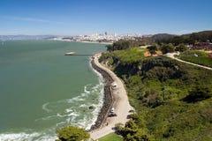 San Francisco cityscape. San Francisco city view from Golden Gate bridge Royalty Free Stock Image