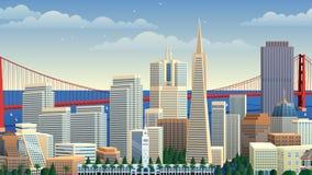San Francisco Cityscape illustration libre de droits