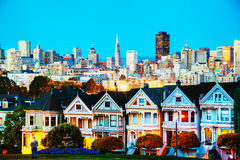 Free San Francisco Cityscape As Seen From Alamo Square Park Stock Photography - 41159472