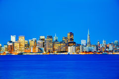 San Francisco cityscape as seen from Treasure Island Royalty Free Stock Photos