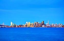 San Francisco cityscape as seen from Treasure Island Royalty Free Stock Photography