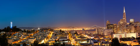 San Francisco Cityscape at Dusk Royalty Free Stock Photo