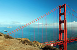 San francisco cityscape and golden gate bridge Royalty Free Stock Images