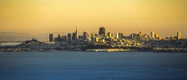 San Francisco cityscape. San Francisco cityscape from Golden Gate Bridge Stock Photo