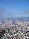 San Francisco Cityscape looking down market street Stock Photography