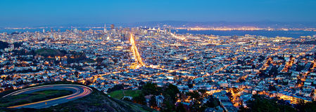 San Francisco Cityscape at Night royalty free stock images