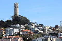 Coit Tower, San Francisco. San Francisco cityscape - Telegraph Hill and Coit Tower Royalty Free Stock Photography