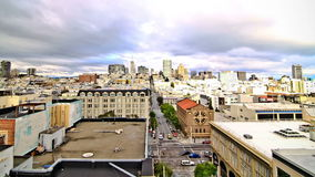 San Francisco Cityscape Time Lapse Effect stock video footage