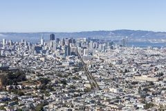 San Francisco Cityscape View Stock Afbeelding