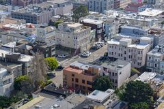 San Francisco Close-Up Aerial View - Streets royalty free stock images