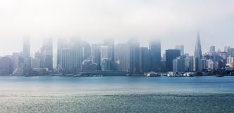 San Francisco in the clouds, Panorama Royalty Free Stock Image