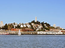 San Francisco Coit Tower from the Bay Stock Photo