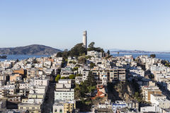 San Francisco Coit Tower Day View Stock Photos