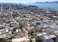 San Francisco Coit Tower Golden Gate Bridge Royalty Free Stock Image