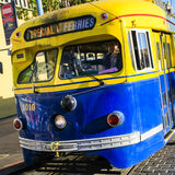 San Francisco Colorful Historic Streetcar fotografia stock libera da diritti