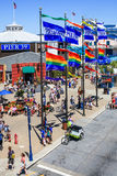 San Francisco Colorful Pier 39 in the Summer. Colorful Pier 39 is located at the edge of famous Fisherman's Wharf and the Embarcadero along San Francisco's Royalty Free Stock Image