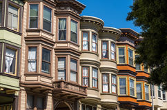 San Francisco - Colourfull Houses. Victorian houses in San Francisco Stock Photo