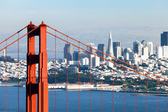 San Francisco con golden gate bridge Fotografia Stock Libera da Diritti
