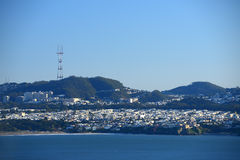 San Francisco con la montagna Fotografie Stock