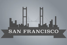 San Francisco concept. Silhouette San Francisco  vector concept on grey background Royalty Free Stock Photography