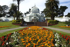 San Francisco Conservatory of Flowers. In Golden Gate Park royalty free stock images