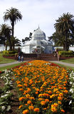 San Francisco Conservatory of Flowers. In Golden Gate Park Stock Photography