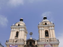 San Francisco convent basilica in Lima downtown Royalty Free Stock Image