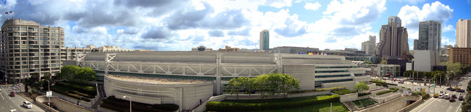 San Francisco Convention Center panoramic royalty free stock photo
