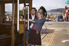 San Francisco couple in love. Royalty Free Stock Photos