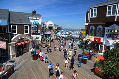 San Francisco crowded Pier 39 Royalty Free Stock Images