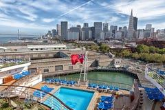 San Francisco Cruise Ship View Fotos de archivo libres de regalías