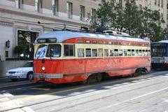 San francisco czerwony tramwaj Obrazy Royalty Free