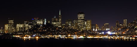San Francisco da nigth Fotografie Stock Libere da Diritti