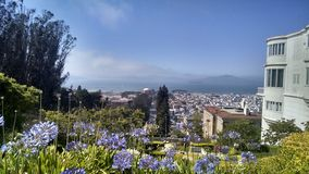 San Francisco by Day. A beautiful breathtaking overtop view of San Francisco Royalty Free Stock Photo