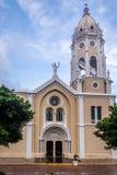 San Francisco de Asis Church i Casco Viejo - Panama City, Panama Arkivfoton