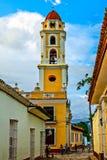 San Francisco De Asis church street view, Trinidad royalty free stock photo