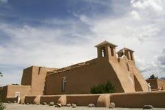 San Francisco de Asis Mission Church em New mexico foto de stock royalty free