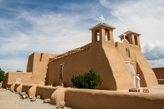 San Francisco de Asis Mission Church in New Mexico Royalty-vrije Stock Afbeelding