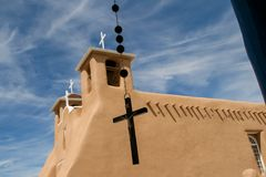 San Francisco de Asis Mission Church in New Mexico Stock Images
