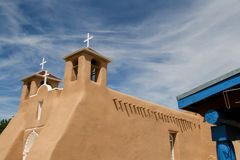 San Francisco de Asis Mission Church in New Mexico Royalty Free Stock Photography