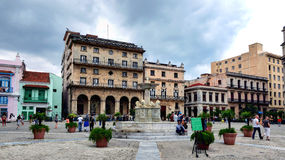 San Francisco de Asis Square in Old Havana Stock Image