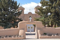San Francisco de Assisi church. In Rancho de Taos, New Mexico royalty free stock photo