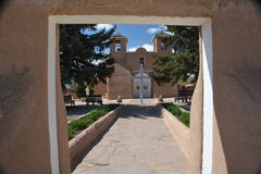 San Francisco de Assisi church. In Rancho de Taos, New Mexico stock photography