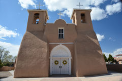 San Francisco de Assisi church. In Rancho de Taos, New Mexico stock photo
