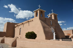 San Francisco de Assisi church. In Rancho de Taos, New Mexico stock photos