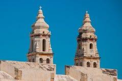 San Francisco de Campeche, México: Catedral en Campeche fotografía de archivo
